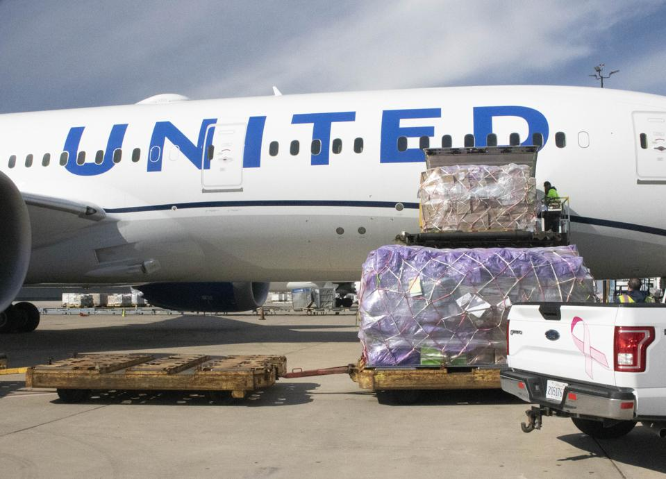 Pfizer BioNTech vaccine airlift United Airlines Brussels Chicago authorization