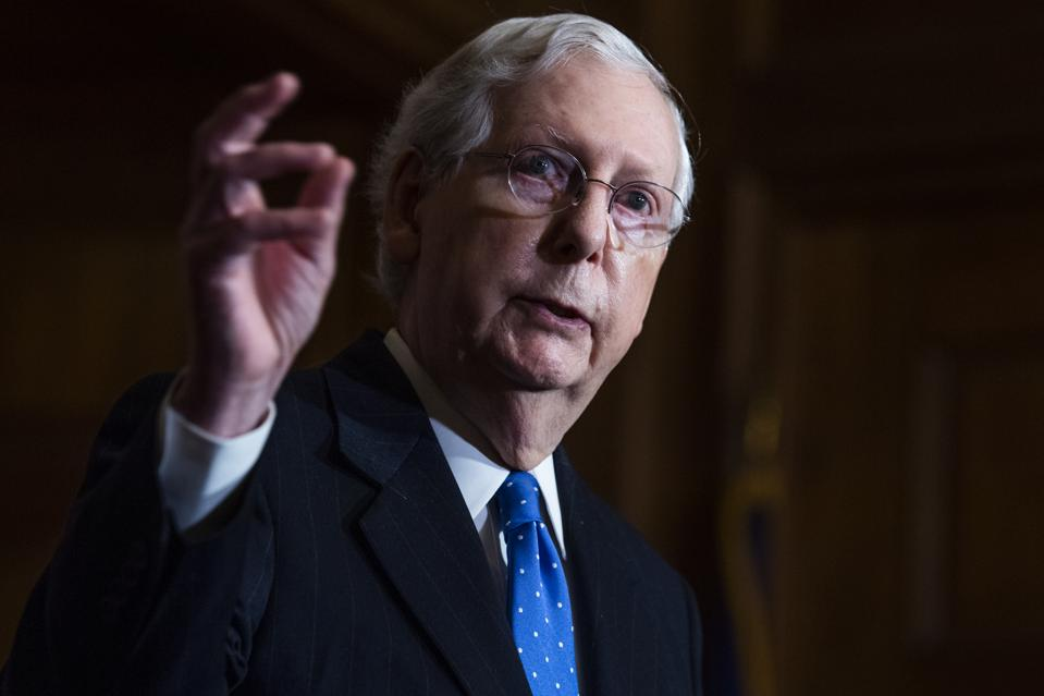 Sen. McConnell And GOP Leadership Hold Weekly News Conference