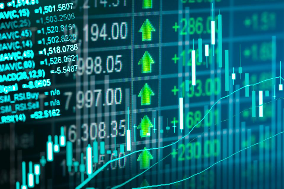 Stock market indicator and financial data view from LED.