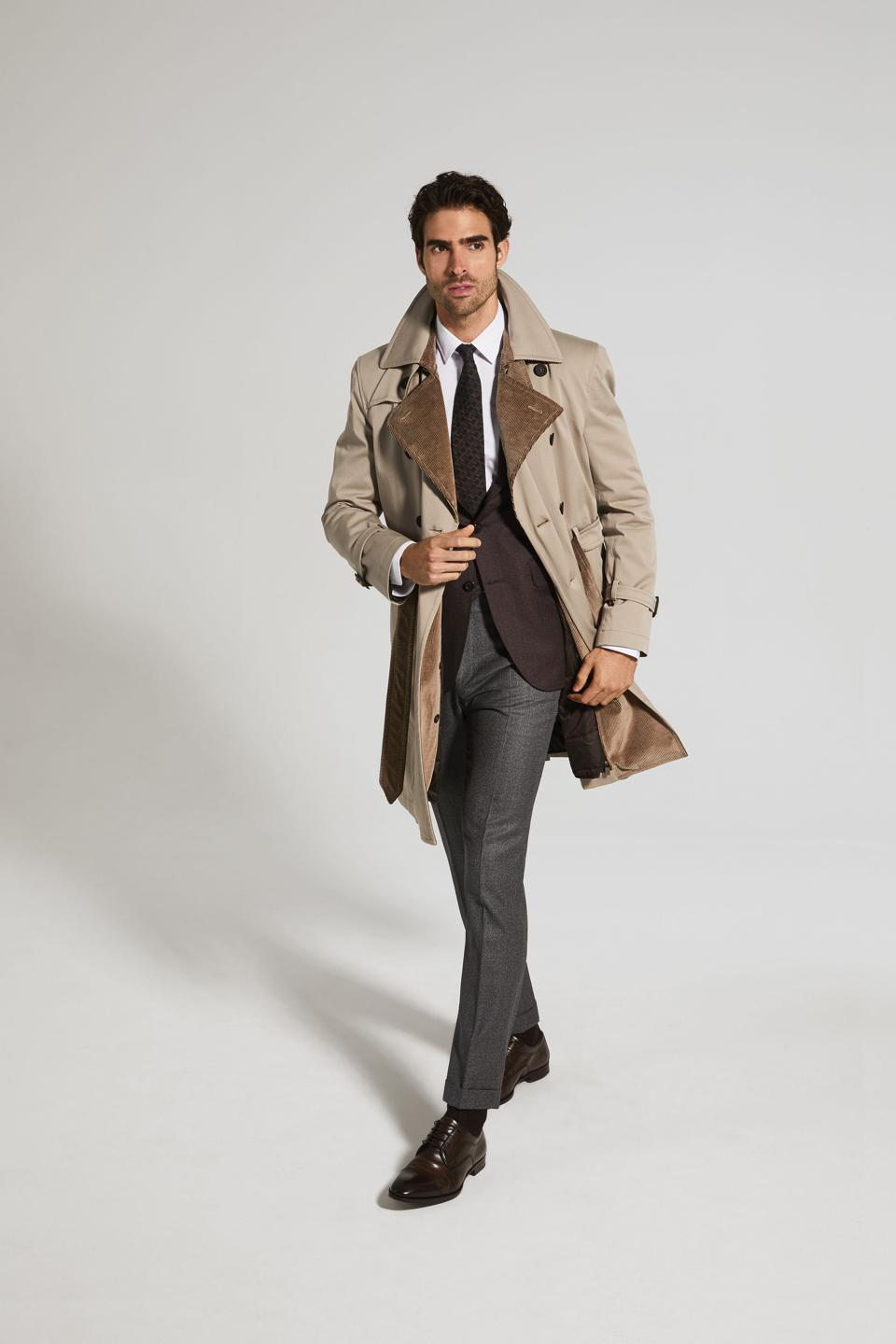 Canali: This Rain Protection twill raincoat in washed-effect beige is the perfect trench for the contemporary man.