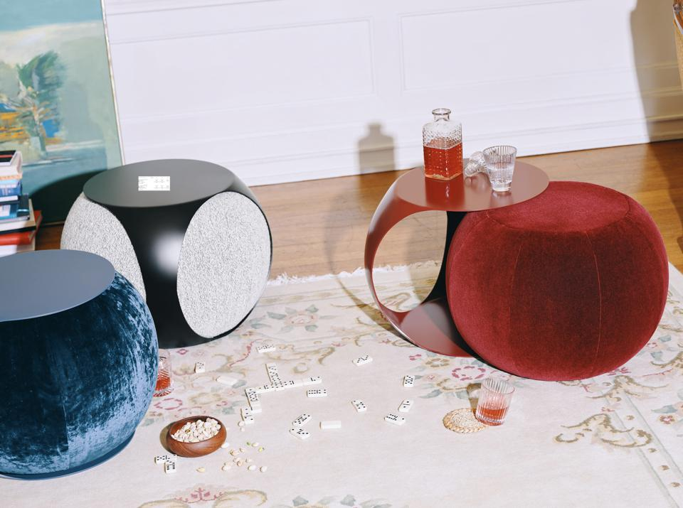 A side table and pouf in one.