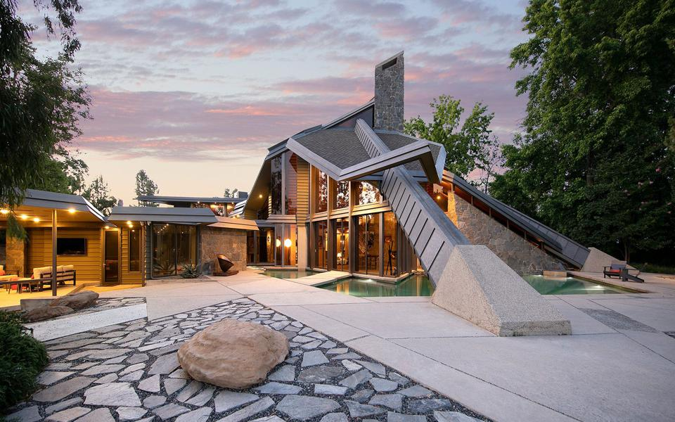 Contemporary home built for basketball great Wilt Chamberlain.