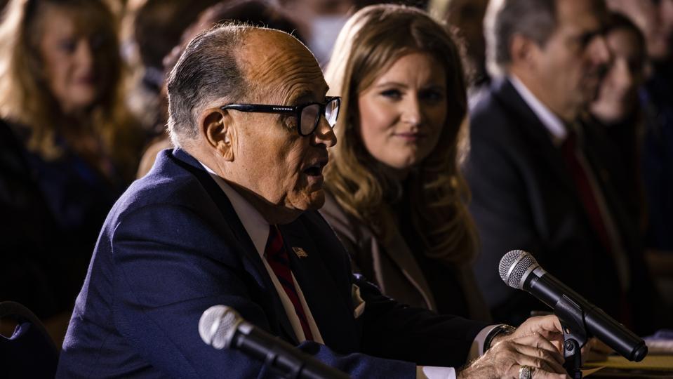 Rudy Giuliani Attends Hearing Hosted By PA State Senators On Voting ″Irregularities″