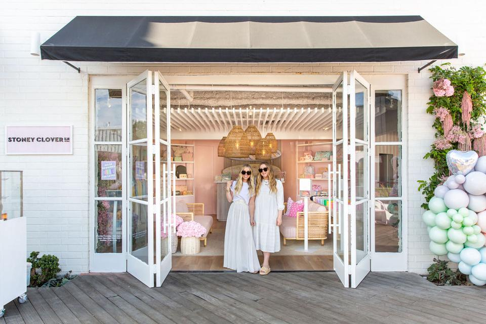 Libby and Kendall Glazer, founder of Stoney Clover Lane at their Newport Beach location.