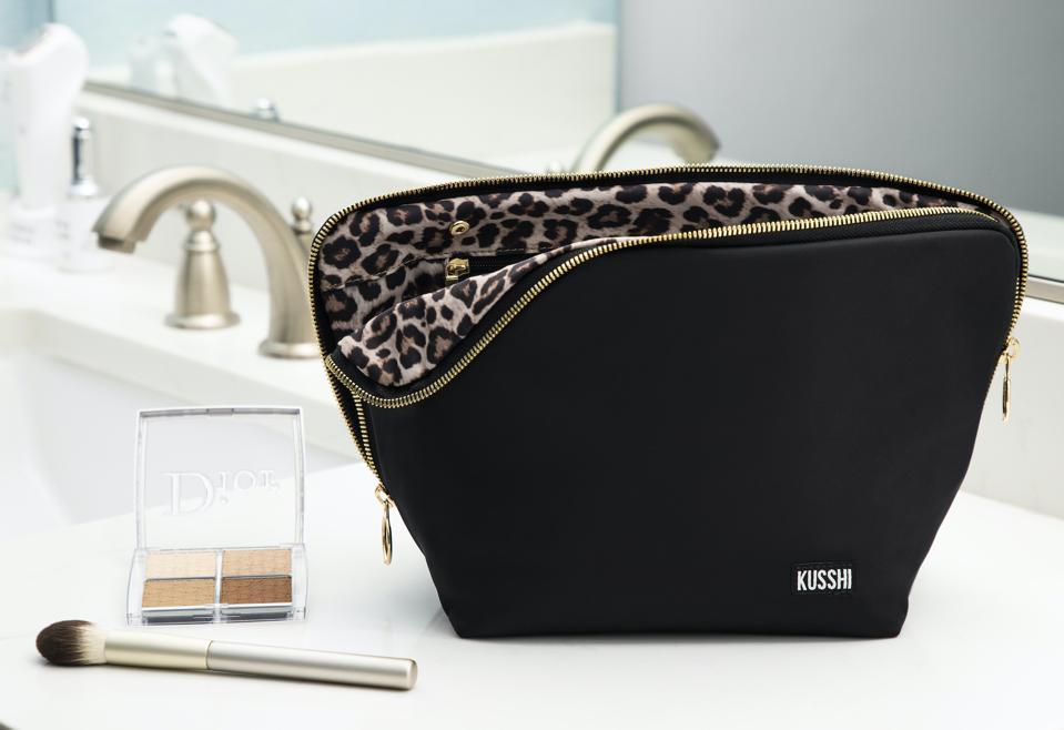 Kusshi Leopard Vacationer Makeup Bag