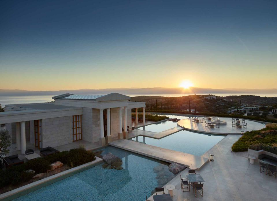 Amanzoe is located just 51 minutes from Epidaurus in East Peloponnese,