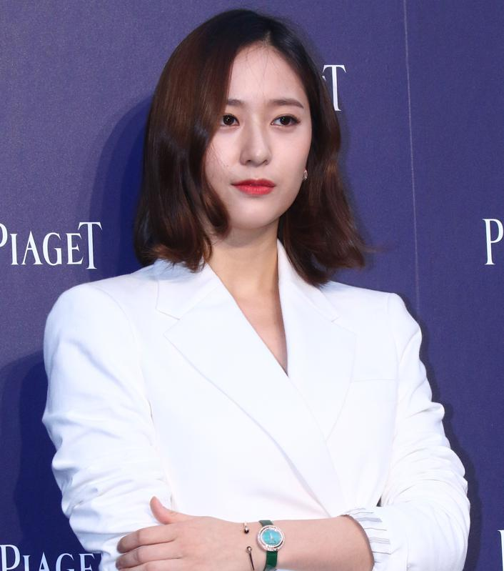 Krystal Jung attends the opening ceremony of Piaget