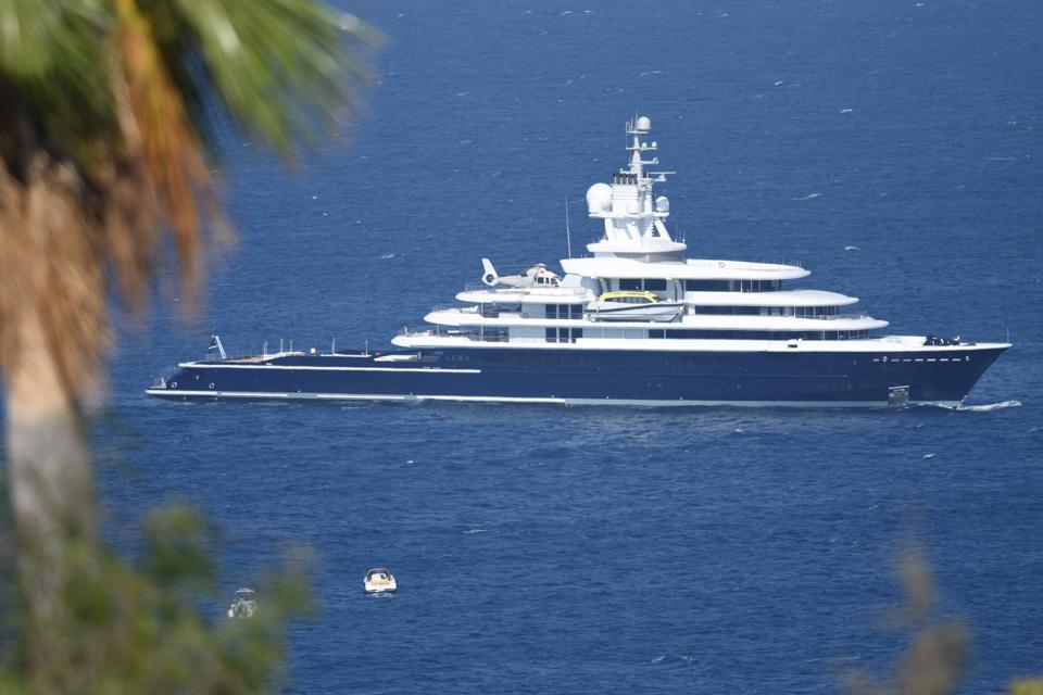 Luxury yachts of Al Saud and Akhmedov ancor in Turkey's Bodrum