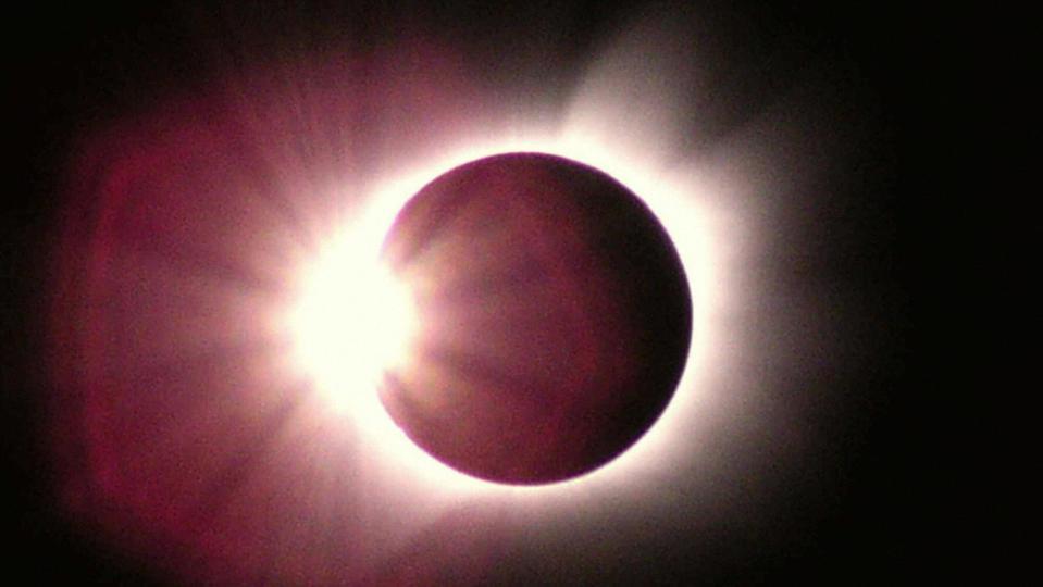 This diamond-ring shaped solar eclipse p