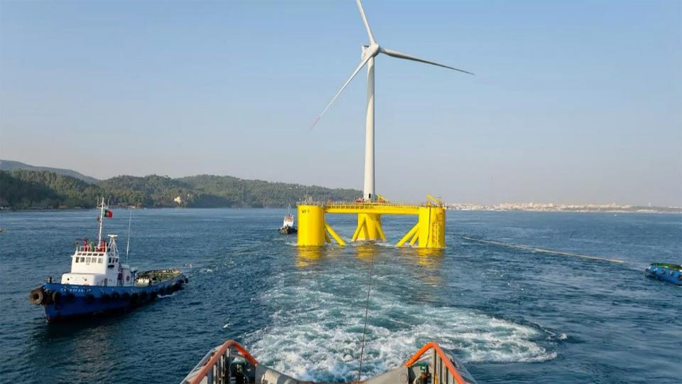 In the summer of 2020, Windfloat Atlantic, off the coast of Viana do Castelo, Portugal
