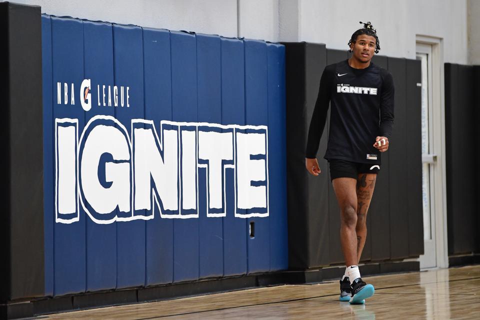 Jalen Green at NBA G League - Team Ignite Practice.