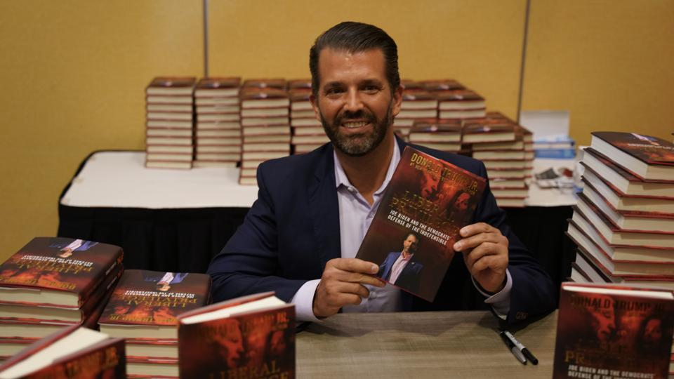 Donald Trump Jr. attends book signing event