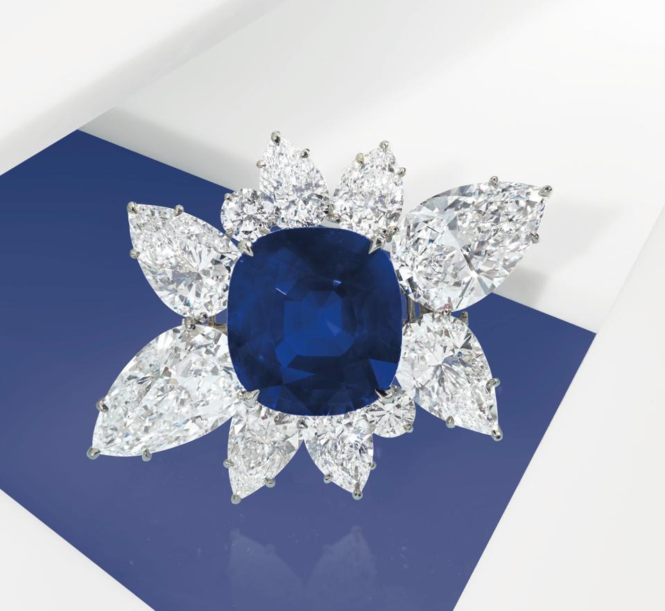 43.10-carat Kashmir sapphire and diamond bracelet