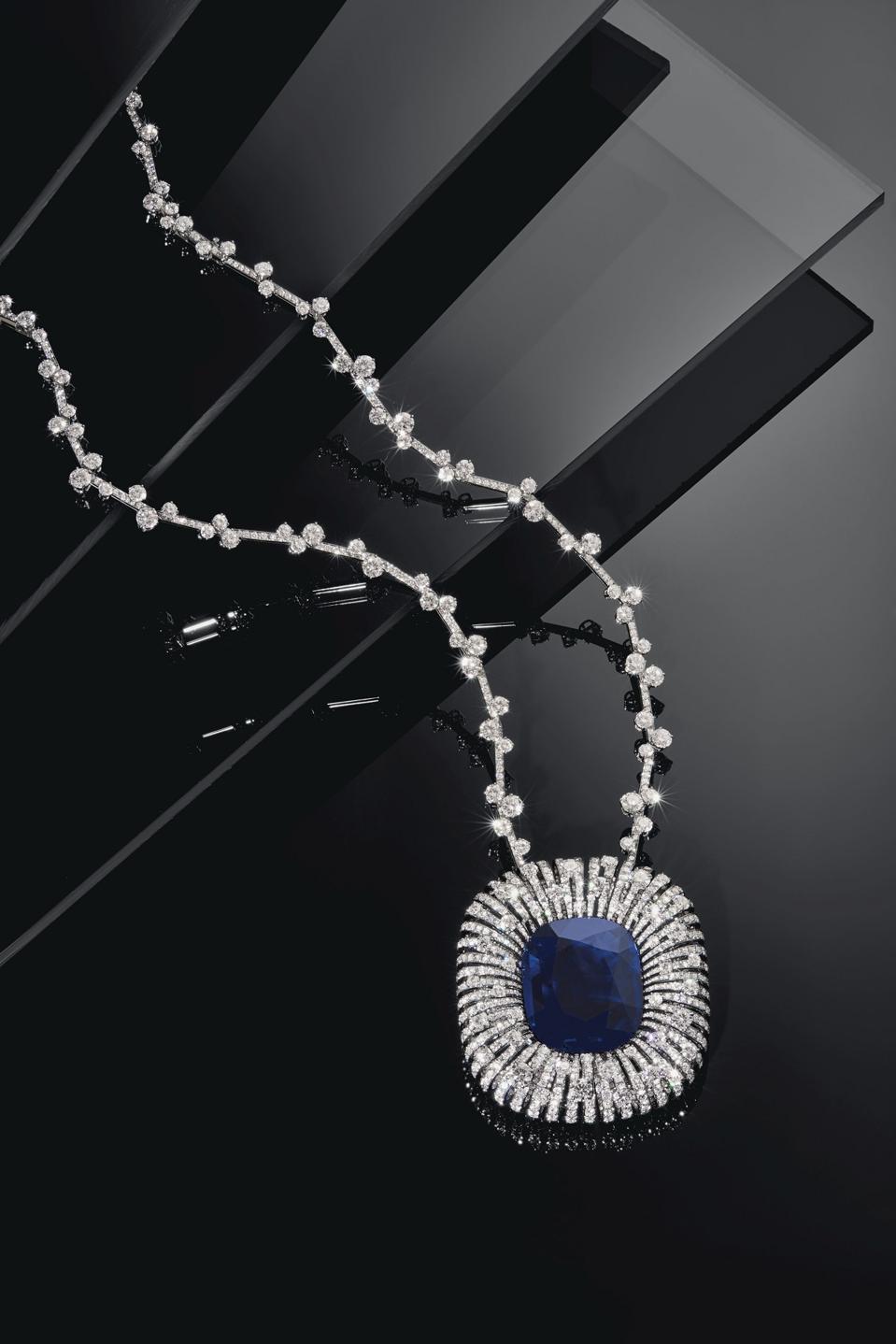 80.86-carat Burma sapphire and diamond necklace