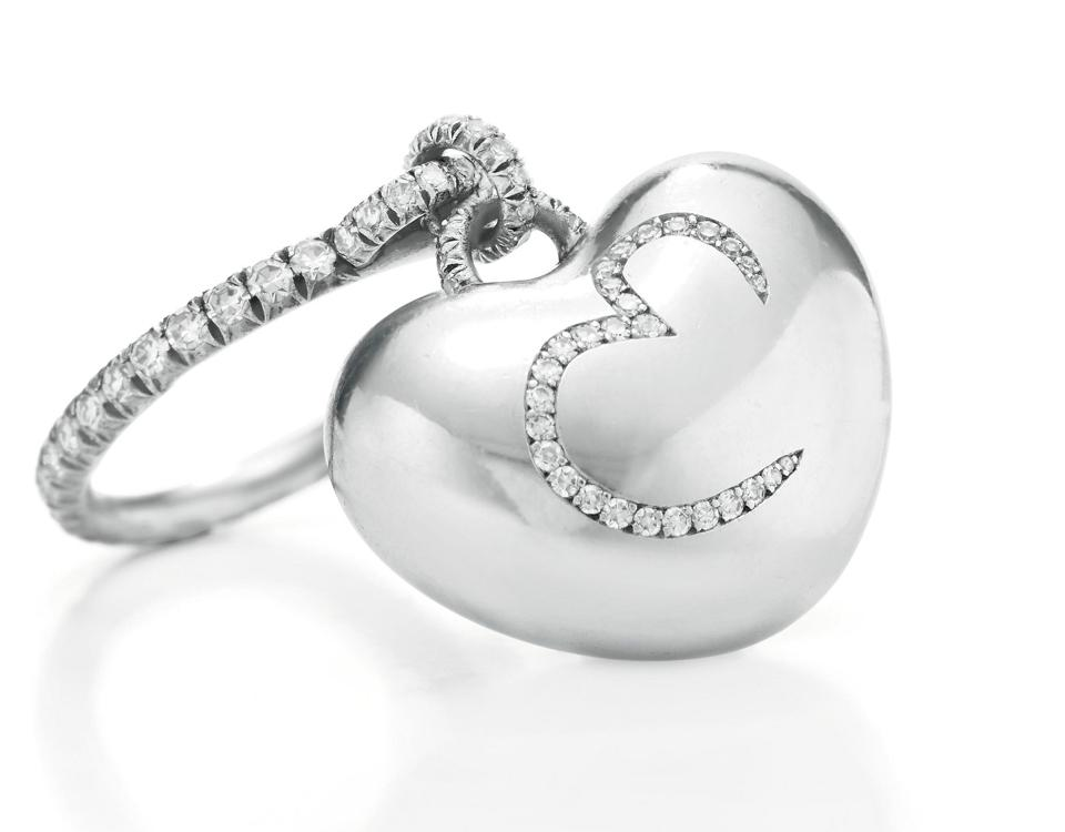 A custom ring by JAR that will benefit The Elizabeth Taylor AIDS Foundation