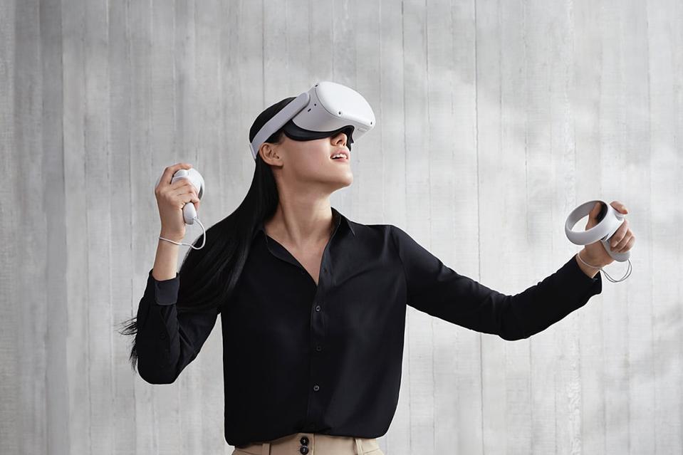 Girl playing Oculus Rift 2
