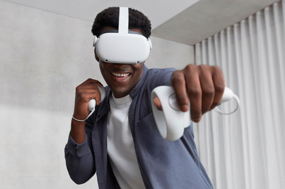 Man playing Oculus Quest 2