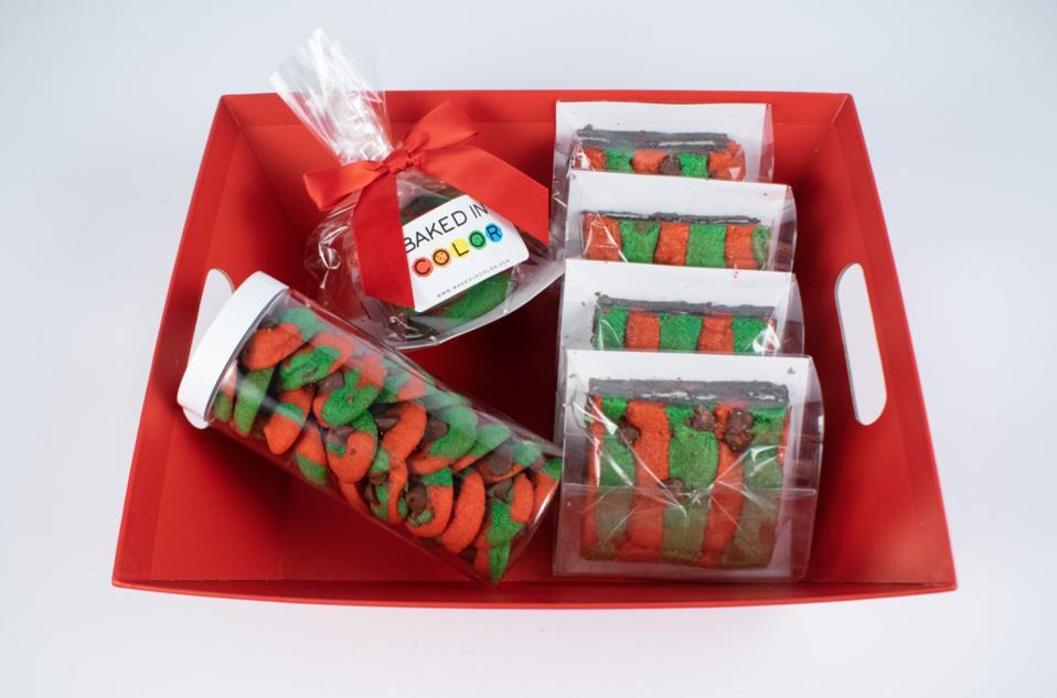 Baked In Color Holiday Cookie Brookie Basket