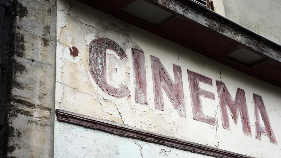 Abandoned old movie theatre