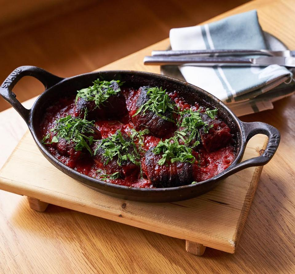 Chorizo-stuffed dates are one of the meal options for national delivery by Chicago's One Off Hospitality Group.