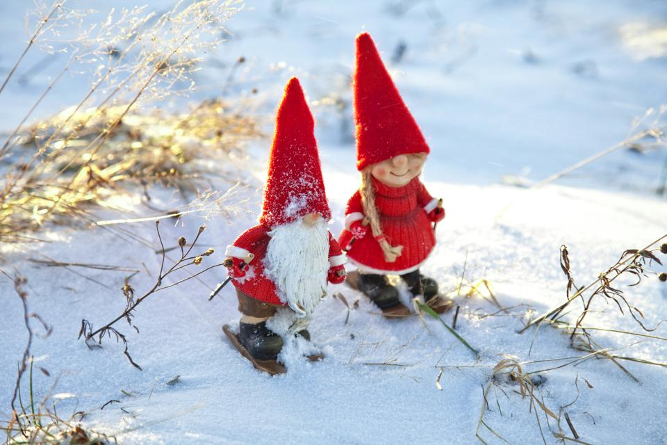 Norwegian 'nisse', a Christmas gnome on skis.