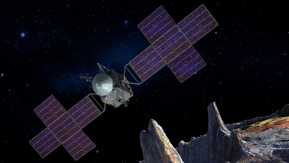 The Psyche mission is a journey to a unique metal asteroid orbiting the Sun between Mars and Jupiter.