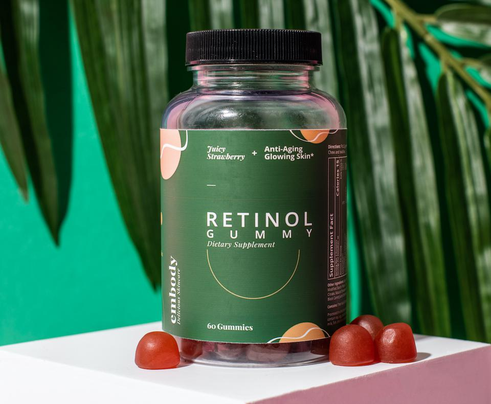 embody World's First Retinol Gummy all-in-one skincare solution jennifer Chung wellness