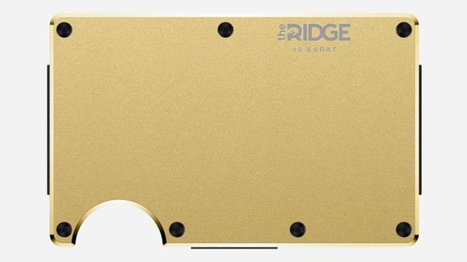 Ridge Wallet in gold