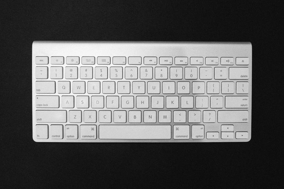 A Mac wireless keyboard