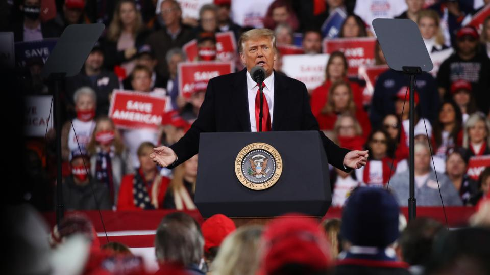 President Trump Holds Rally In Georgia For Senate Candidates Loeffler And Perdue