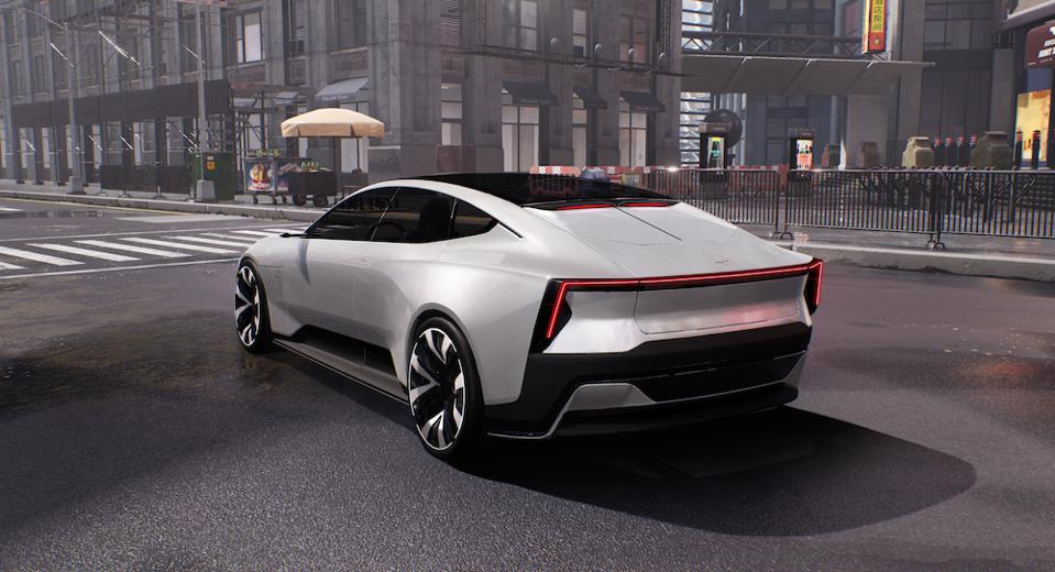 The Polestar Precept concept car stars in Balenciaga's video game