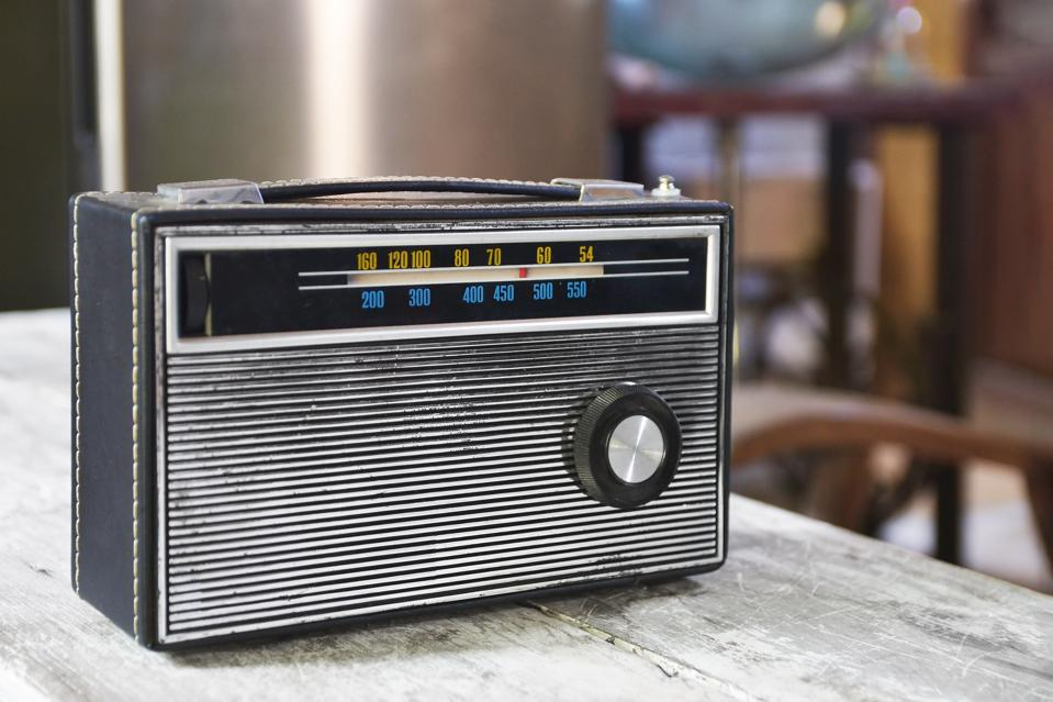 Close-Up Of Radio On Table