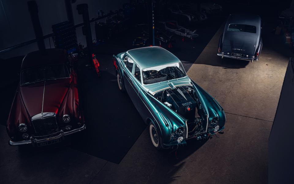 The Lunaz portfolio has expanded from electrified classic Jaguars to Bentleys, Rolls-Royces