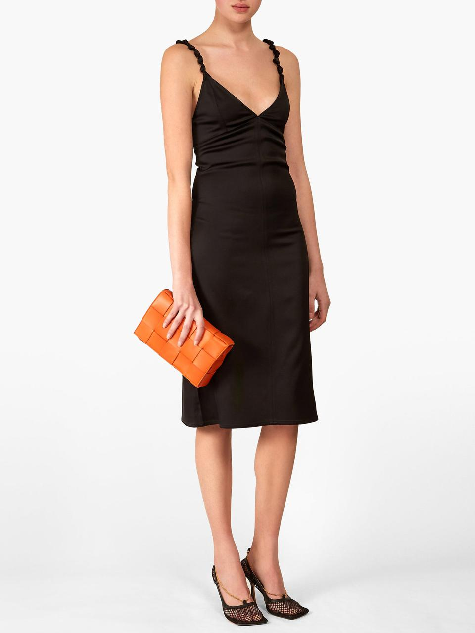 Knotted-Strap Dress by Bottega Veneta