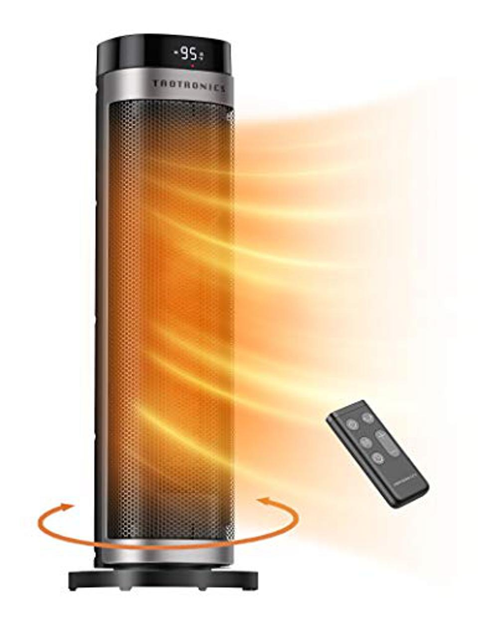 TaoTronics PTC 1500W Oscillating Portable Heater with Remote