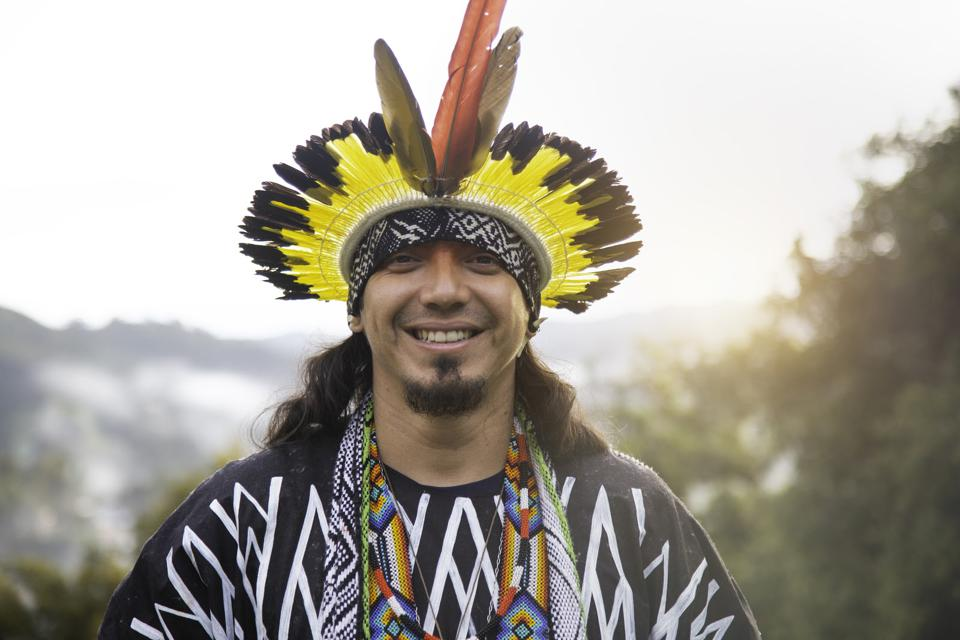 man in traditional head dress