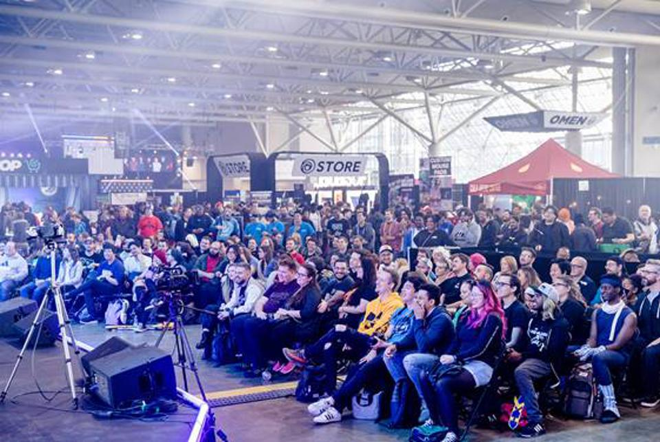 Audience at Enthusiast Gaming Event
