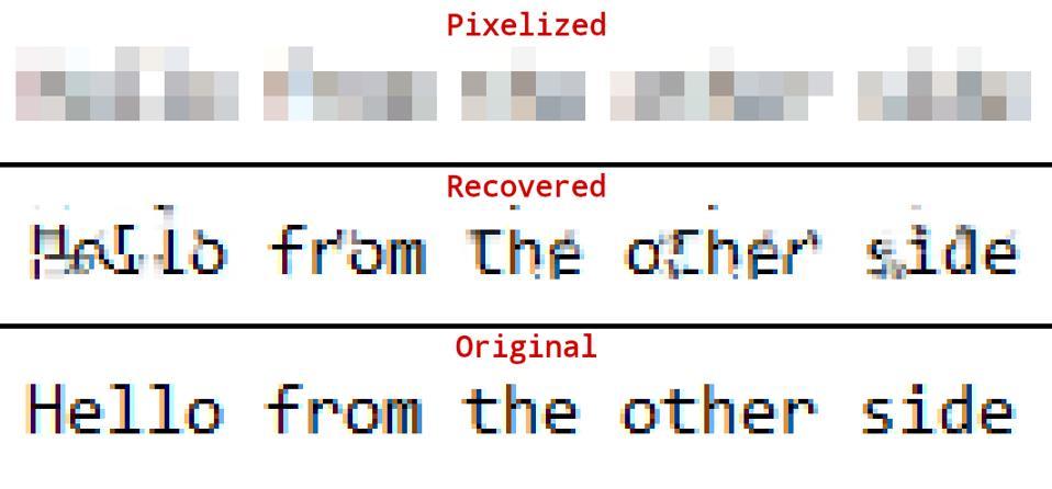 Depix output
