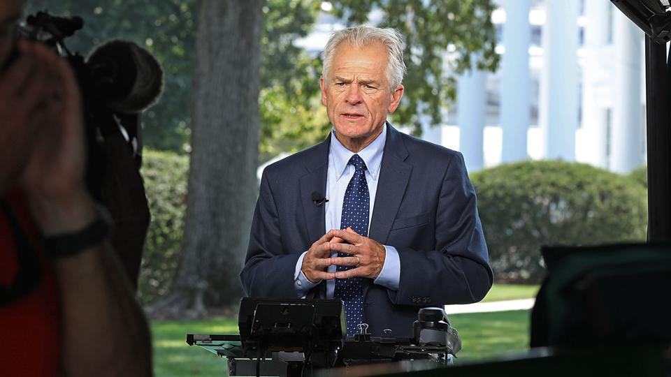 Trump Trade Advisor Peter Navarro Is Interviewed At White House