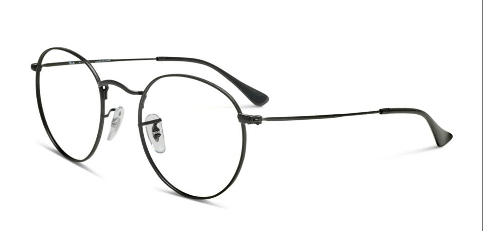Ray-Ban RX3447V Round Metal in black