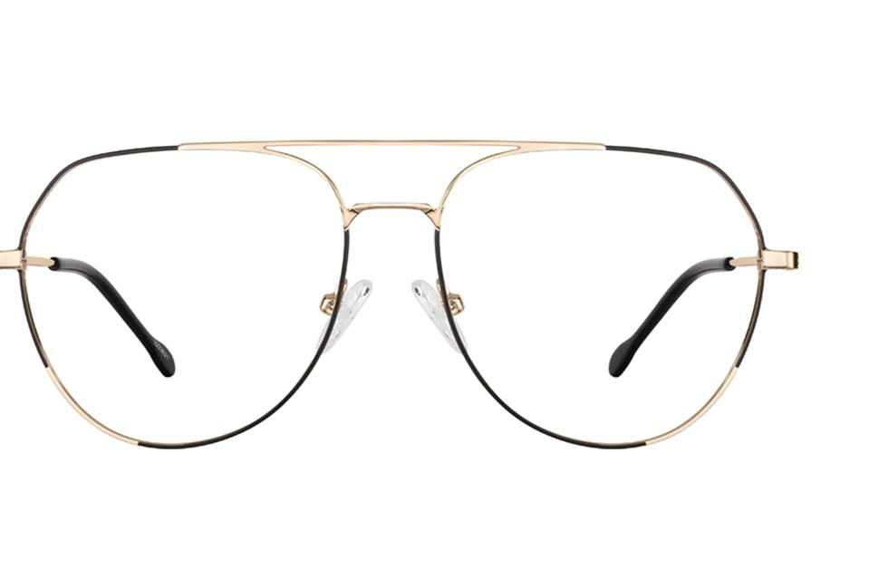 Aviator Glasses 3223621 with gold and black frames