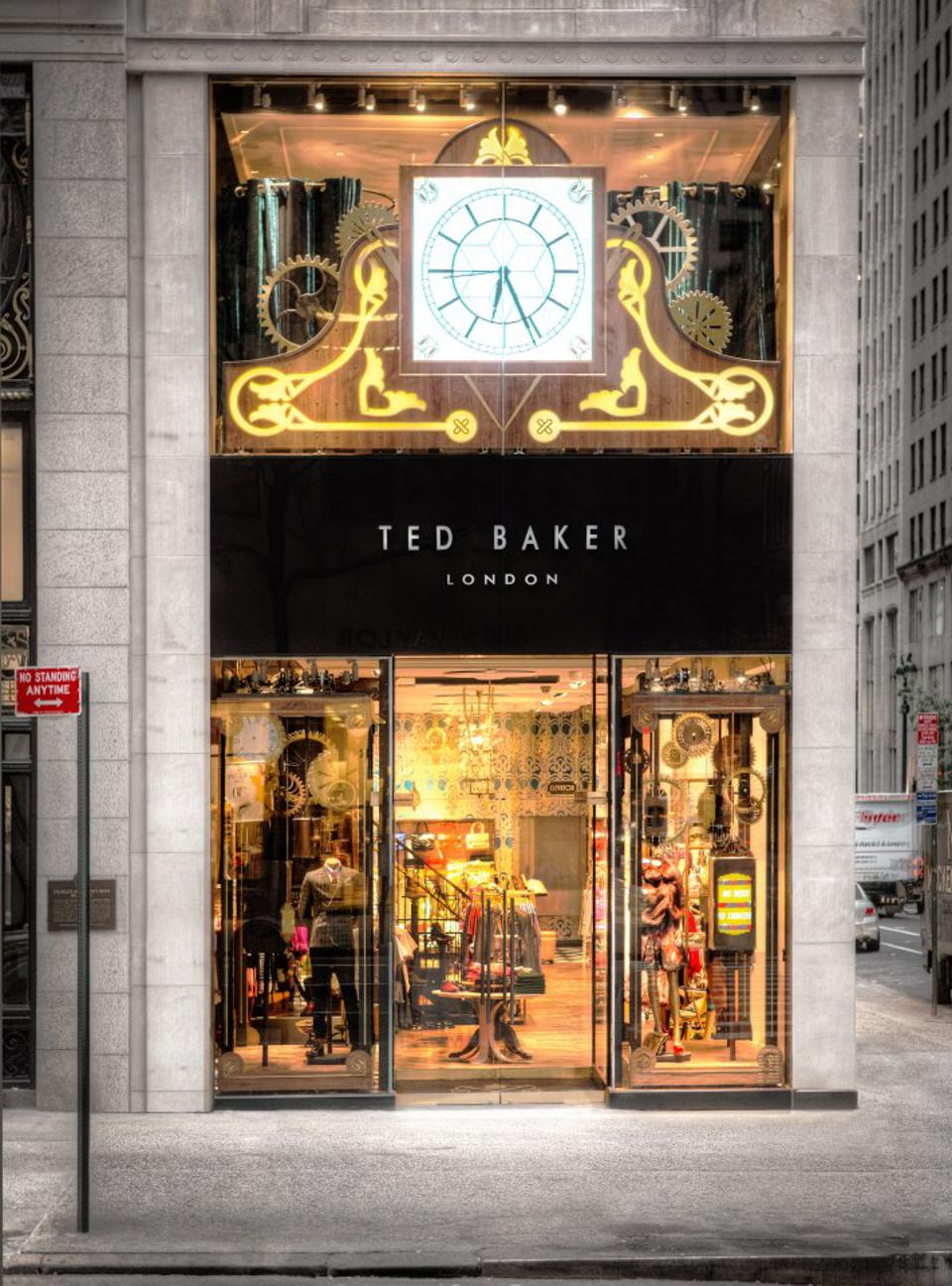Ted Baker on Fifth Avenue, New York.