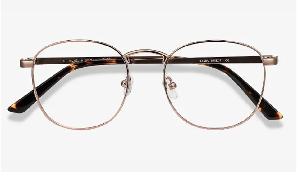 St Michel Round Rose Gold Eyeglasses