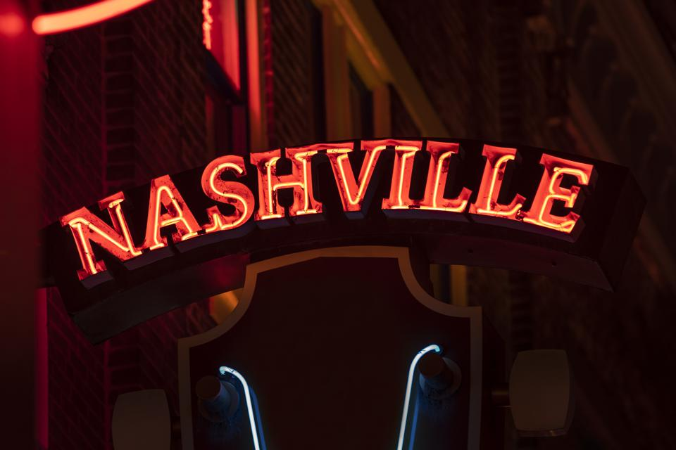 Neon sign in Nashville Tennessee USA