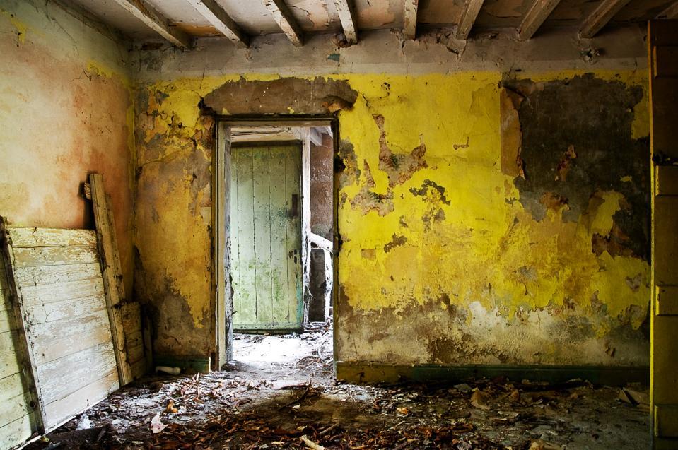 Derelict interior room