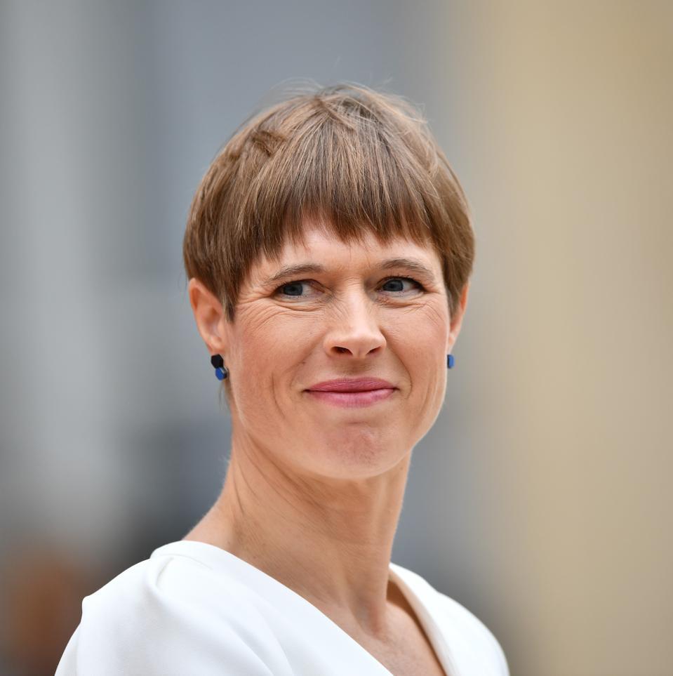 El presidente de Estonia, Kersti Kaljulaid