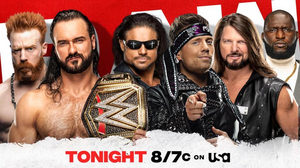 Sheamus and WWE Champion Drew McIntyre vs. John Morrison, The Miz and AJ Styles (with Omos)