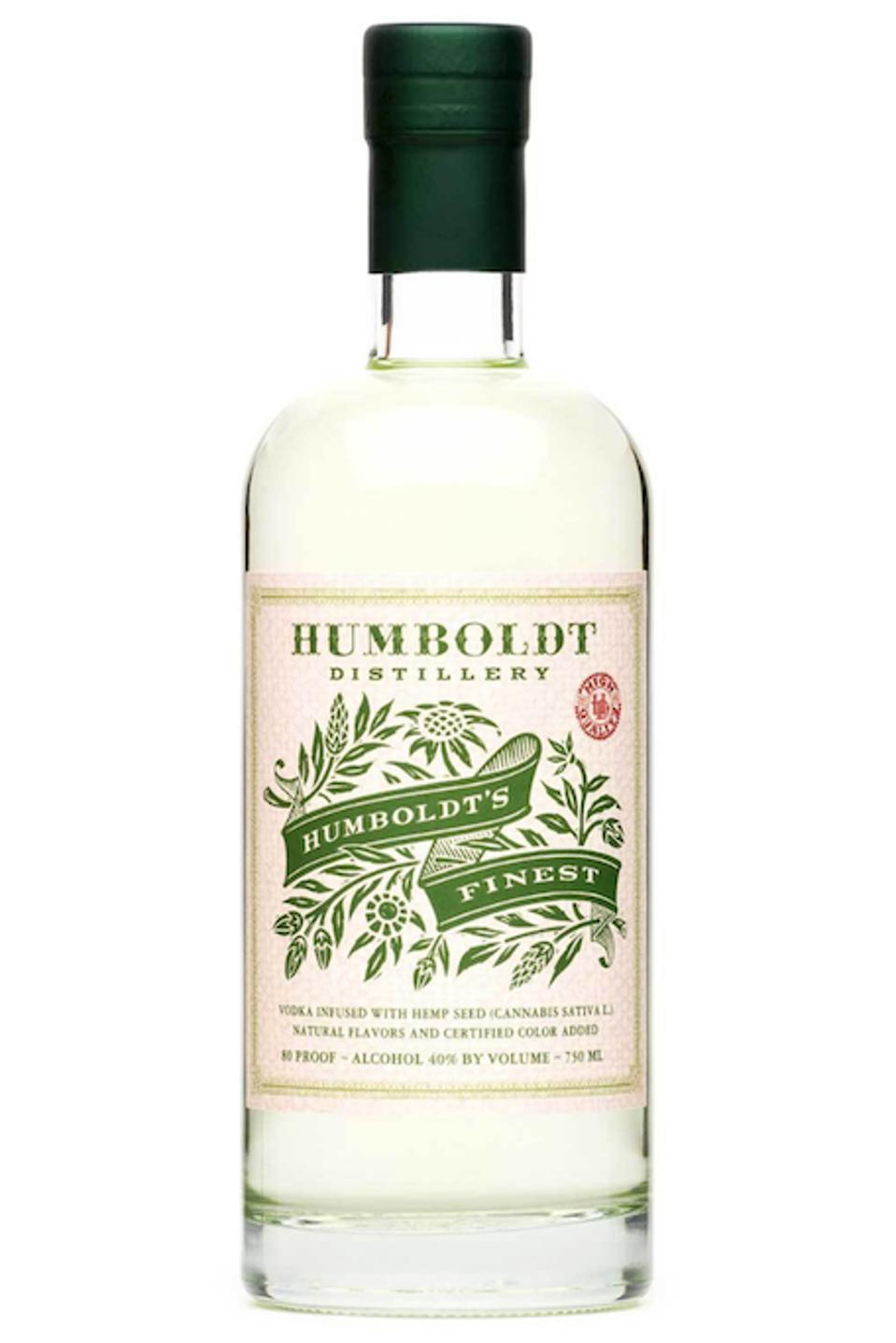 Humboldt Distillery, Humboldt's Finest, Hemp Infused Vodka
