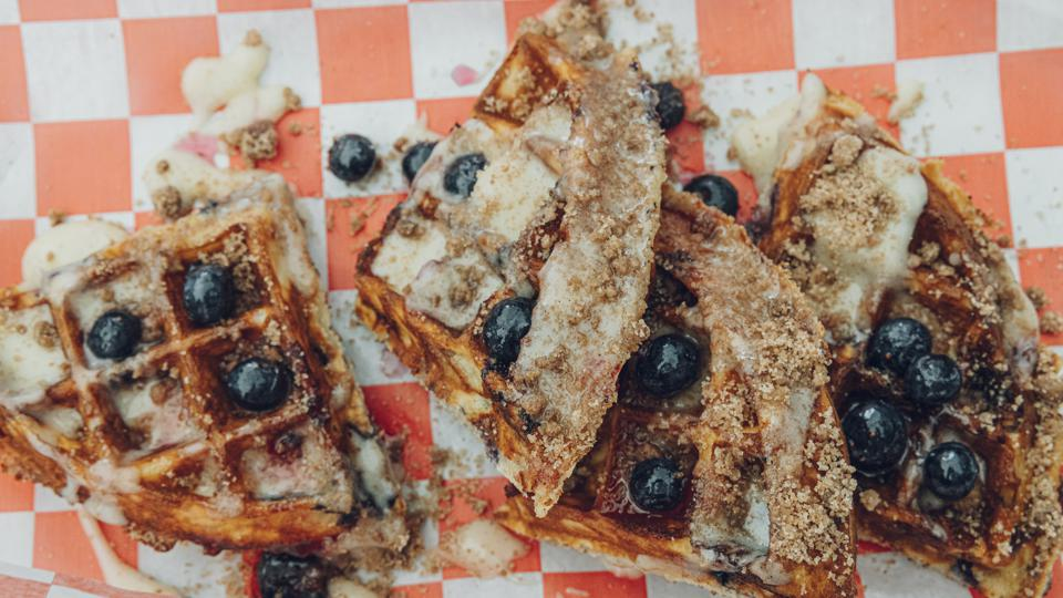 The Blueberry Muffin Waffle at Lil' Sweet Chick