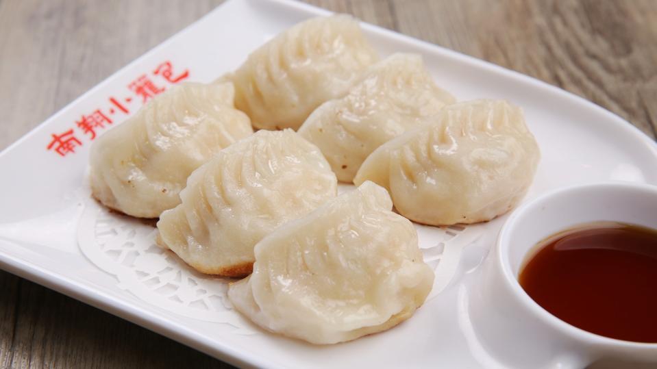 The new pan-fried cheese and shrimp dumplings at Nan Xiang Xiao Long Bao